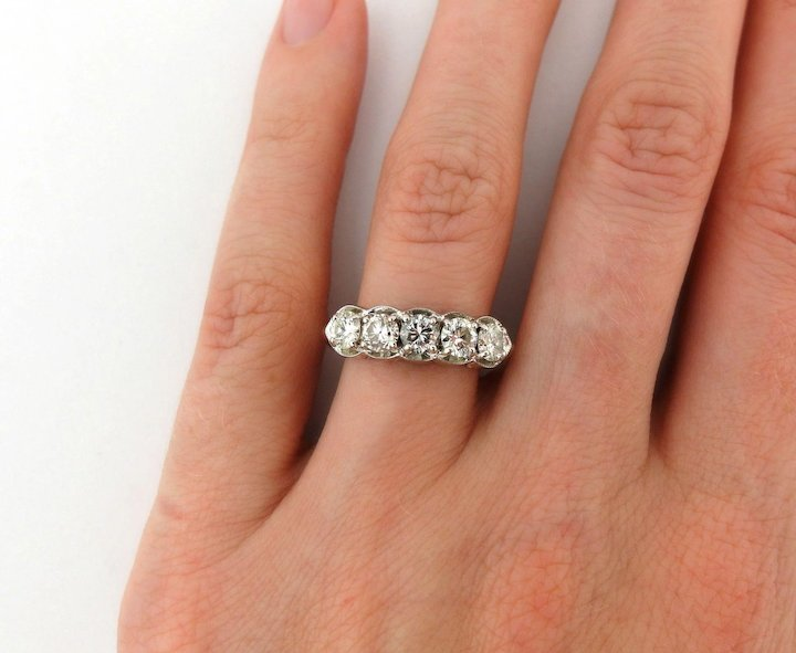 from women diamond sona simulate semi ring in carat silver gold sterling rings synthetic jewelry setting mount item engagement for white accessories
