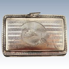 Vintage Sterling Silver Coin Purse / Wallet / Holder with Stunning Case