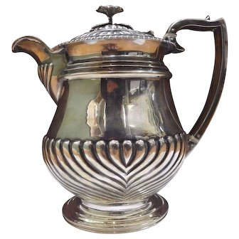 ALICE & GEORGE BURROWS George III Antique English Sterling Silver Teapot