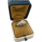 Upcycled Vintage 1920's 1.00ct Diamond Engagement Ring White Rose Gold Filigree