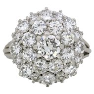 Vintage Diamond Cluster Ring, c.1970s