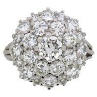 Vintage Diamond Cluster Ring, c.1970s