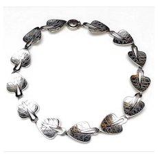 1950's Vintage, Neils Erik From, Sterling Silver Necklace: Danish Modernist