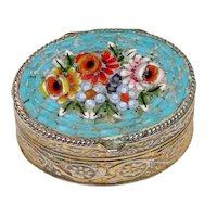Vintage Italian Glass Mosaic Pill Box