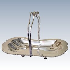 Antique 1910, Silver Plate Cake/Fruit Basket