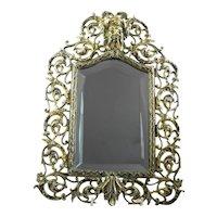 Antique Victorian Brass Standing/Hanging Mirror