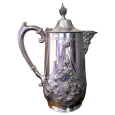 Victorian Silver Plate Coffee Pot/Hot Water Jug