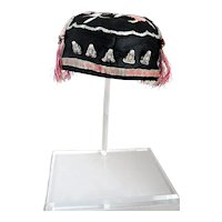 Antique Ching Dynasty, Chinese Child's Silk Hat