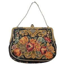 Vintage Edwardian Petit Point Evening Bag