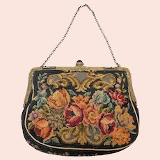 Vintage Edwardian Petit Point Evening Bag