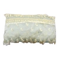 Vintage 1920's Boudoir/Ring Pillow in Antique French Lace Covering Satin Silk