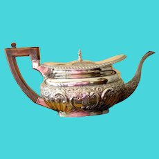 Antique Edwardian (Marked 1902) Sterling Silver English Teapot