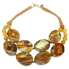 Double Strand  Butterscotch Agate Slices