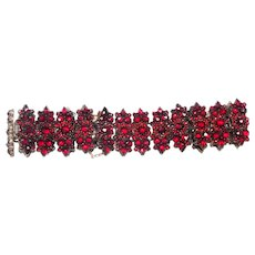 Victorian Rose-Cut Bohemian Garnet Bracelet