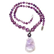 Victorian  Faceted Amethyst  with  Lavender Jadeite