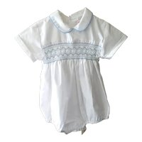 Vintage Infant Boys Dressy/Christening One Piece Romper, a Princess Dianna Influence