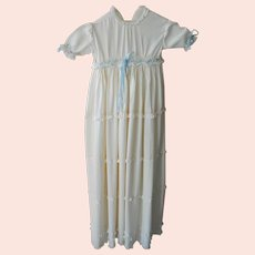 Vintage English Silk Crepe Christening/Baptismal Gown