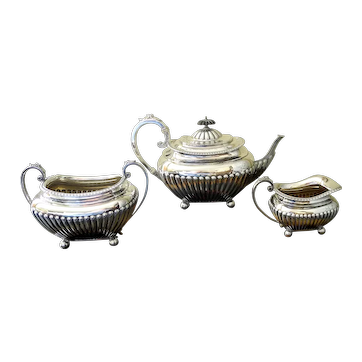 Antique English Sterling Silver Tea Service, Sheffield Circa 1911