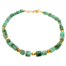 Natural Emerald and 18CT Gold