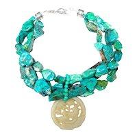 The Vibrant Impact of Turquoise Chrysocolla & Celadon Jade