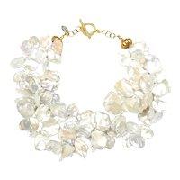 Startingly Stunning  Large, Bright White Keshi Pearls