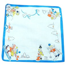 Vintage 1920's Child's Handkerchief, Marked Mabel Lucie Attwell