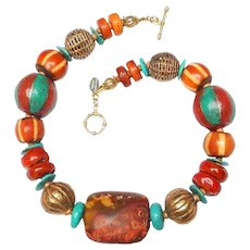 A Bold Carnelian Necklace of many Cultures