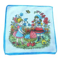 Vintage 1950's Child's Playtime  Colourful Handkerchief