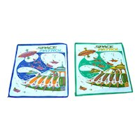 Vintage, 1950's Space Patrol Child's Handkerchiefs