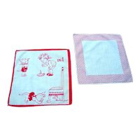 Vintage, 1920's Child's Handkerchief and Polka Dot Handkerchief