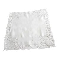 Antique Edwardian Wedding Bridal Handkerchief, Handmade lace