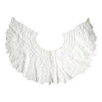 Fine, Large, Antique Victorian, French, White Lace Collar