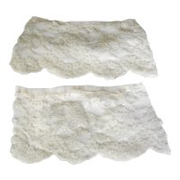 .Pair of Edwardian White Lace Cuffs