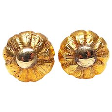 Vintage 18 CT Gold Stud Earrings