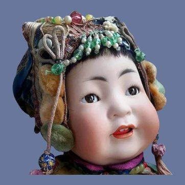 Precious German JDK Kestner 243 Asian Character Dressed by GUMPS plus Bonus