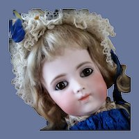 Beautiful Bru Bebe Brevete Cabinet Size 4 French Bisque Doll
