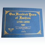 """French Fashion Enthusiasts Great Reference -  Booklet """"One Hundred Years of Fashion 1796-1896"""" Saphire Cover"""
