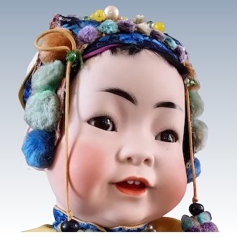 Kestner JDK 243 Oriental Asian Chinese Baby in Pristine Un-Played-With Condition All Original