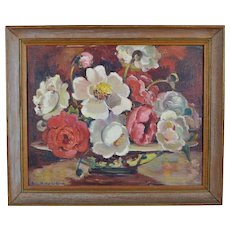 20th Century Floral Still Life Painting by Freda Widder Ledford