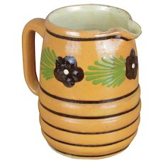 French Terra Cotta Floral Pitcher
