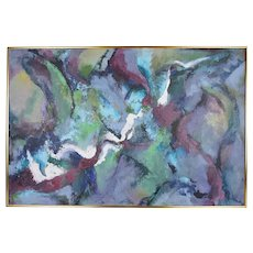 20th Century Abstract Painting By Theo Sable