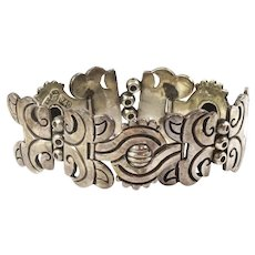 Taxco Hector Aguilar's Maguey Bracelet - Highly Prized Piece with 940 Sterling Silver