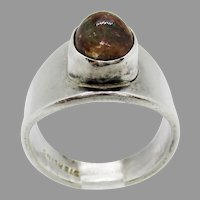Sterling Silver 8x10mm Oval Agate Ring