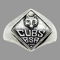 Sterling Silver Cub Scout Ring
