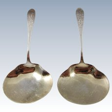 A Pair of Dominick & Haff Sterling Silver Flat Servers