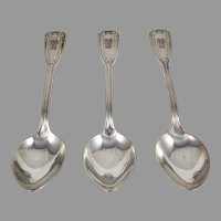 Tiffany 3pcs.Sterling Silver Soup Spoons