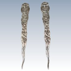 Tiffany Sterling Silver Chrysanthemum Nut Picks
