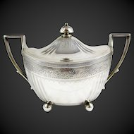 Sterling Silver Covered Sugar Bowl