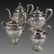 Scotish Sterling  Silver 4 Pcs. coffee, Tea service