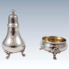 Tiffany Sterling Silver Salt Shaker & Pepper Servers
